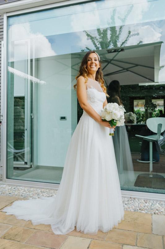 Elegante abito da sposa
