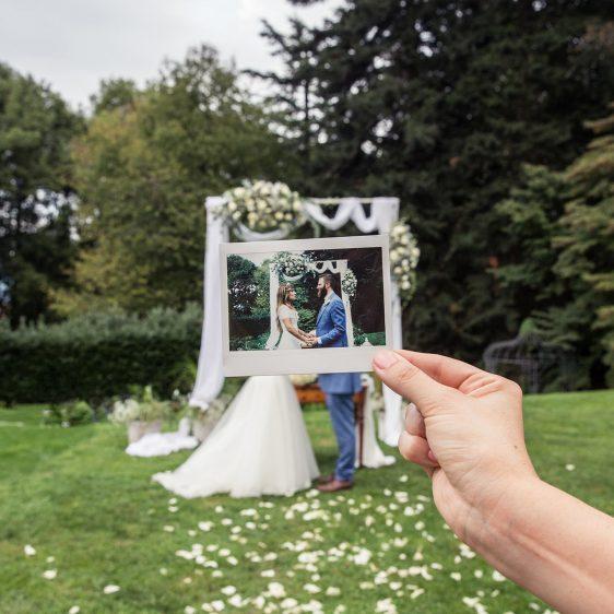 Wedding polaroid